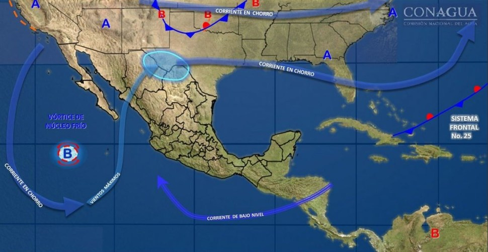 Mapa con el pronóstico del clima para este 1 de febrero. (SMN)