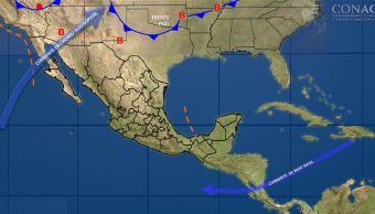 Nuevo frente frío provocará lluvias y vientos fuertes en México