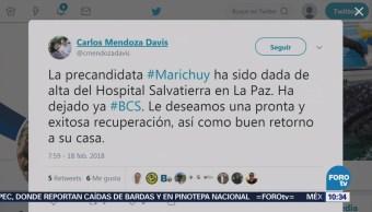 Marichuy Deja Hospital Bcs Luego Accidente Tránsito
