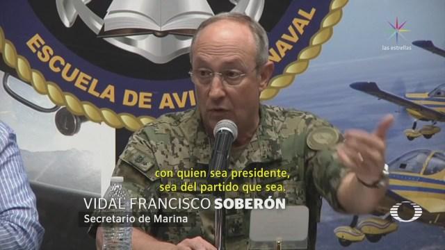 Marina estará 'con quien sea presidente'