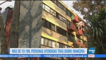 151 Mil Personas Atendidas Sismo Mancera Jefe De Gobierno De La Ciudad De México Miguel Ángel