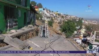 Más de 250 personas pierden su casa por deslave en Tijuana