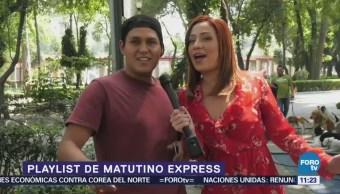 Érika Káiser presenta el Playlist de la semana de Matutino Express