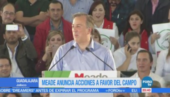 Meade anuncia acciones a favor del campo en Jalisco