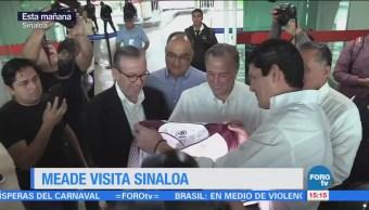 Meade llega a Sinaloa para un encuentro con militantes priístas
