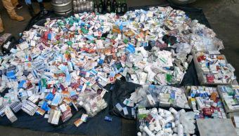Decomisan 80 kilos de medicamentos ilegales en Iztapalapa