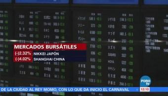Mercados Accionarios Mundiales Mantienen Baja