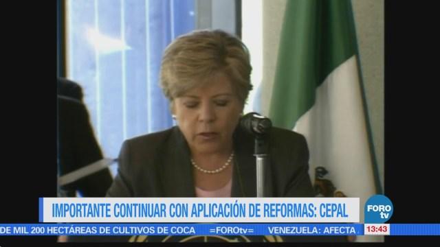 México debe seguir reformas estructurales, aconseja Cepal