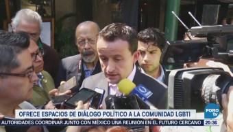 Mikel Arriola ofrece espacios de diálogo político a la comunidad LGBTI