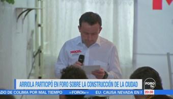 Mikel Arriola participa en foro sobre construcción de la CDMX