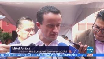 Mikel Arriola pide actuar contra la inseguridad