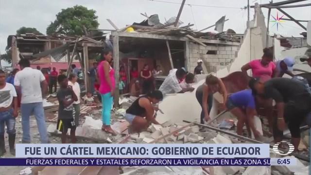 Ministro Ecuador Responsabiliza Organización Criminal Mexicana Bombazo Cuartel Policiaco