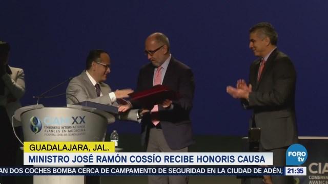 Ministro José Ramón Cossío recibe honoris causa en Guadalajara Jalisco