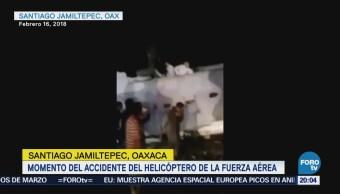 Momento Accidente Helicóptero Fuerza Aérea Oaxaca