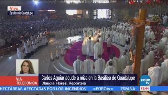 Monseñor Aguiar Retes Oficia Misa Basílica Guadalupe