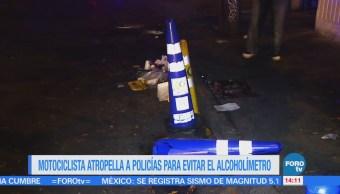 Motociclista Atropella Policías Evitar Alcoholímetro