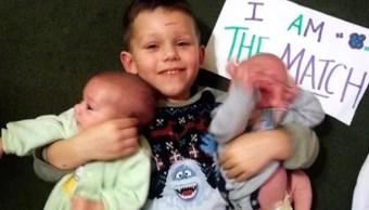 'Superhéroe' de cuatro años salva a sus hermanos gemelos; dona médula ósea