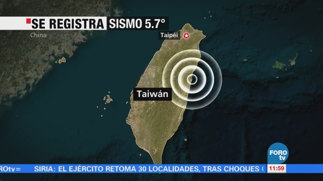 Nuevo sismo de magnitud 5.7 sacude Taiwán