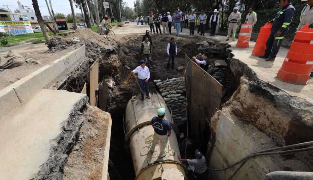 inician obras hidraulicas tlahuac casi 5 meses sismo