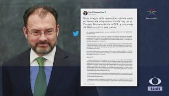 Oea Pide Cancelar Elecciones Venezuela