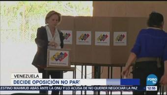 Opositores de Venezuela deciden no participar en elecciones presidenciales