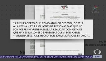 Organizaciones civiles cuestionan cifras de pobreza de Sedesol