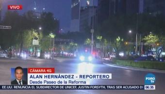 Paseo de la Reforma presenta buen avance vehicular