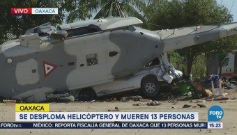 Peritos Recaban Información Donde Accidentó Helicóptero Militar Oaxaca