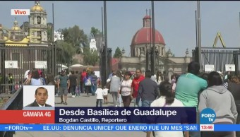 Policía Federal Resguarda Feligreses Basílica Guadalupe