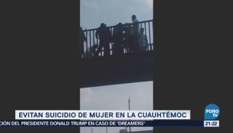 Policías capitalinos evitan intento de suicidio en la CDMX
