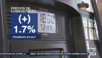 Precios Gasolinas Aumentan 4.7% Enero