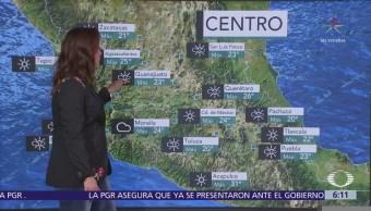 Pronostican chubascos y lluvias en el noroeste del país