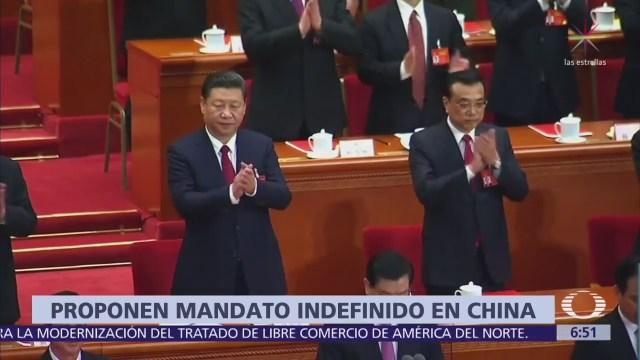 Proponen mandato presidencial indefinido en China