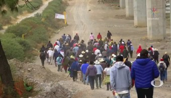 Protestan por construcción del Tren Interurbano