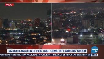 Puebla reporta saldo blanco tras sismo