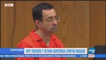 Reanuda tercera comparecencia contra Larry Nassar