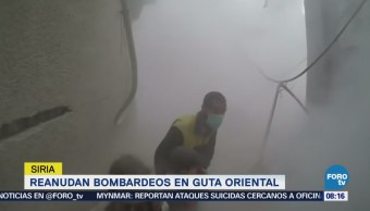 Reanudan bombardeos en Guta oriental