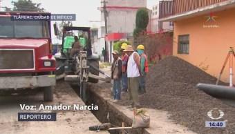 Reconstruyen drenaje en delegación Tláhuac