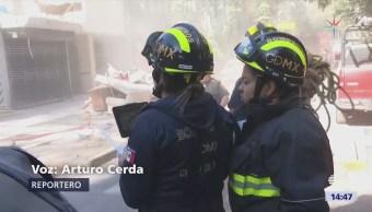 Remueven Escombros Edificios Dañados Sismos Cdmx