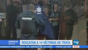 Rescatan a 14 víctimas de trata en Acapulco