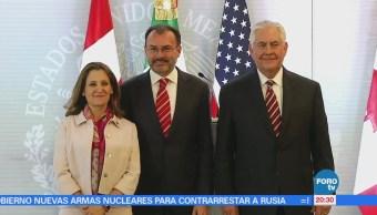Reunión entre cancilleres de México, Estados Unidos y Canadá