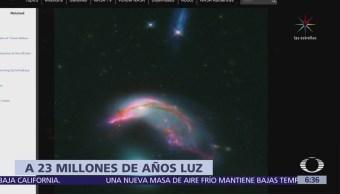 Revelan fotografía de dos galaxias que están a 23 millones de años luz