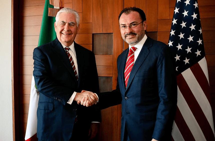 Videgaray recibe a Tillerson en Cancillería; discuten sobre migración y seguridad