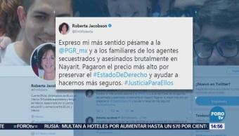 Roberta Jacobson Justicia Agentes Asesinados Nayarit