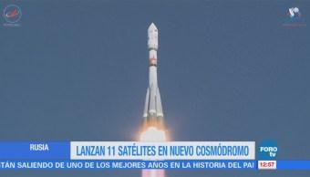 Rusia puso en órbita 11 satélites