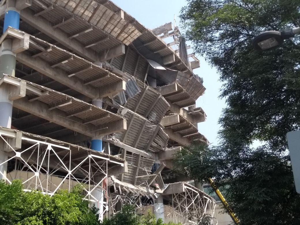 Derrumbe de edificio causa impacto en CDMX