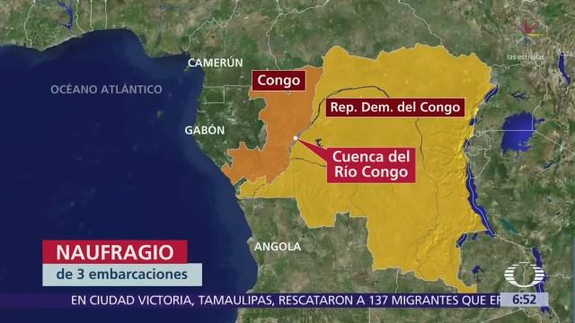 Se hunden tres barcos con 500 personas en la cuenca del río Congo