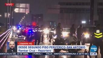 Se incendia automóvil en segundo piso de Periférico