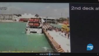Se registra explosión de ferry en Quintana Roo