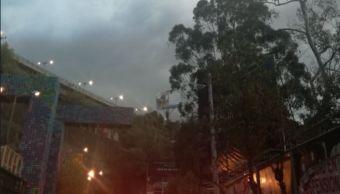 Se registra lluvia ligera en algunas zonas de la CDMX